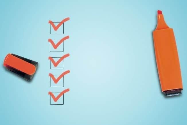 Healthy Behaviors List Checkbox