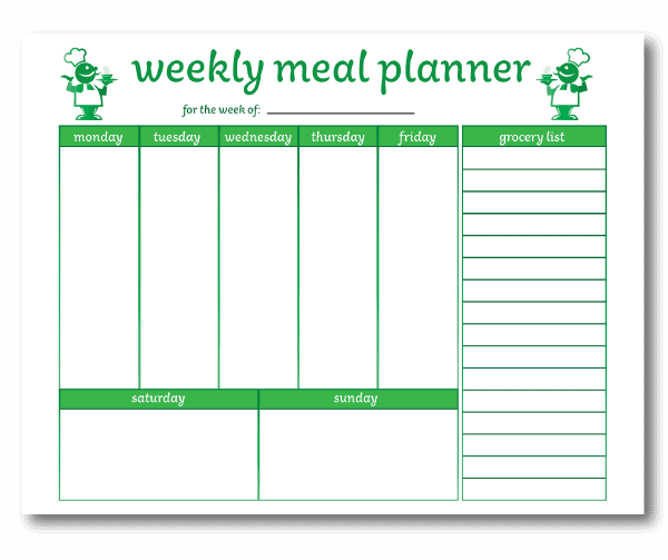 Weekly Meal Planner with Grocery List